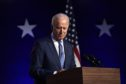 Joe Biden addresses the nation at the Chase Center November 06, 2020 in Wilmington, Delaware.  (Photo by Drew Angerer/Getty Images)