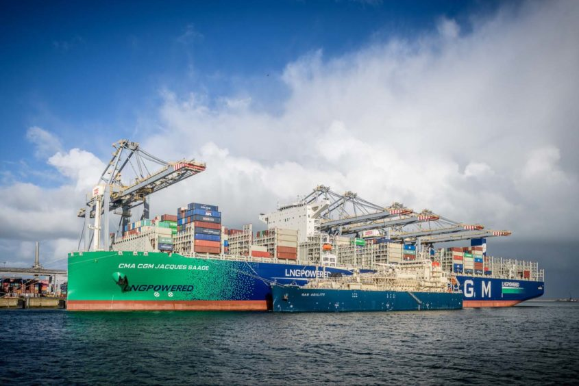 Total has completed a record LNG bunkering operation in Rotterdam, with the Gas Agility providing 17,000 cubic metres of fuel to the CMA CGM Jacques Saadé.