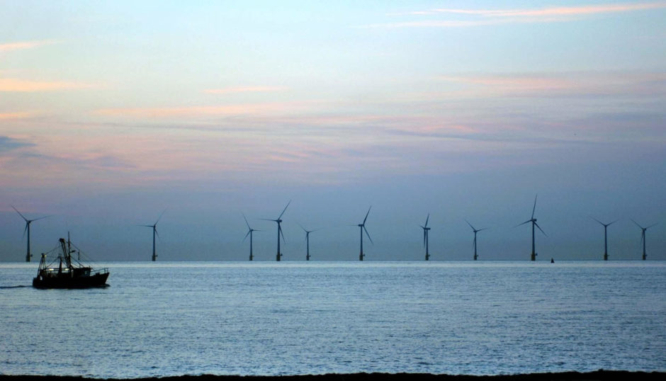 Scroby Sands offshore wind farm was a round one projects. PA Photo: Chris Radburn