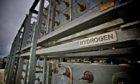 EMEC's hydrogen storage cylinders (Credit: Colin Keldie)