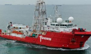 Fugro Mariner vessel. Supplied by Piet Sinke