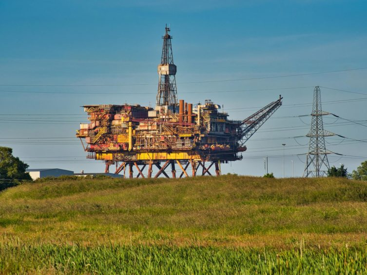 Brent Alpha oil rig topsides. Hartlepool. Supplied by Holt Energy Advisers / Shutterstock