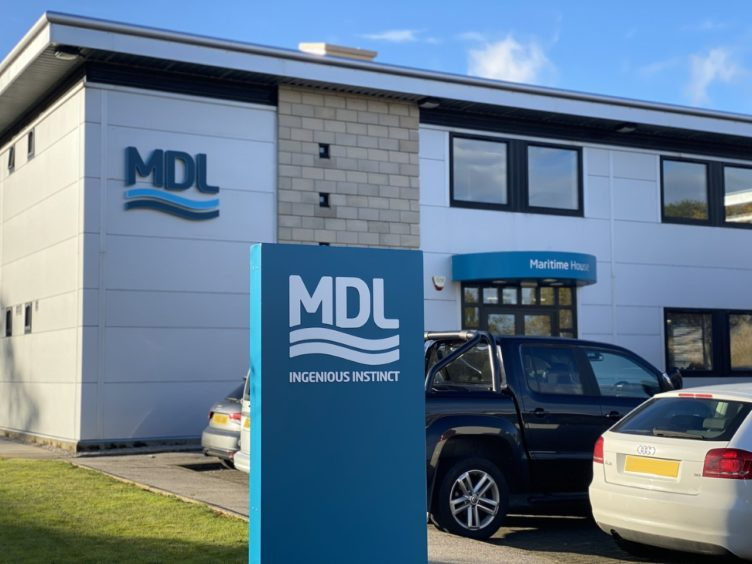 Maritime Developments' new premises in Westhill.
