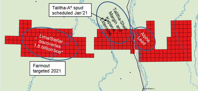 Talitha-A in relation to 88E's acreage