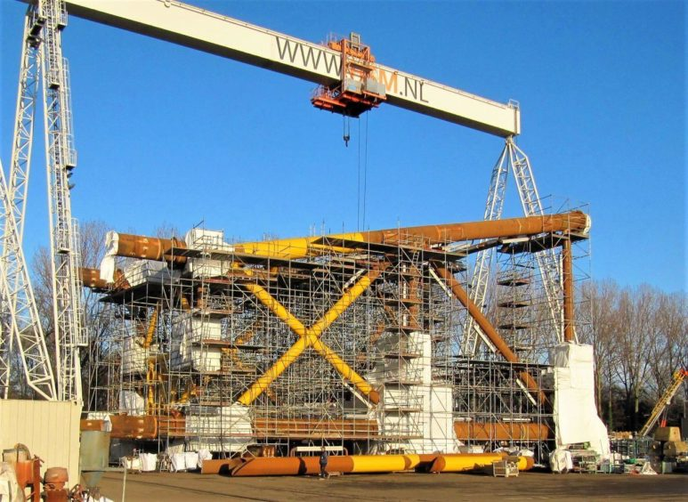 IOG's Southwark jacket under construction in The Netherlands