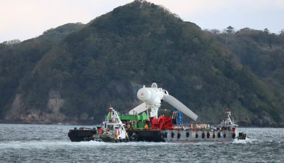 The tidal system arriving in Japan
