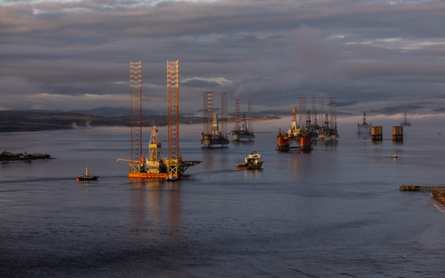 Click to zoom. Well-Safe Protector enters the Cromarty Firth.