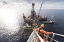 An Altrad employee on a North Sea installation.