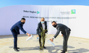 Aramco and Baker Hughes have begun construction on their $110mn Novel non-metallic facility in Saudi Arabia.