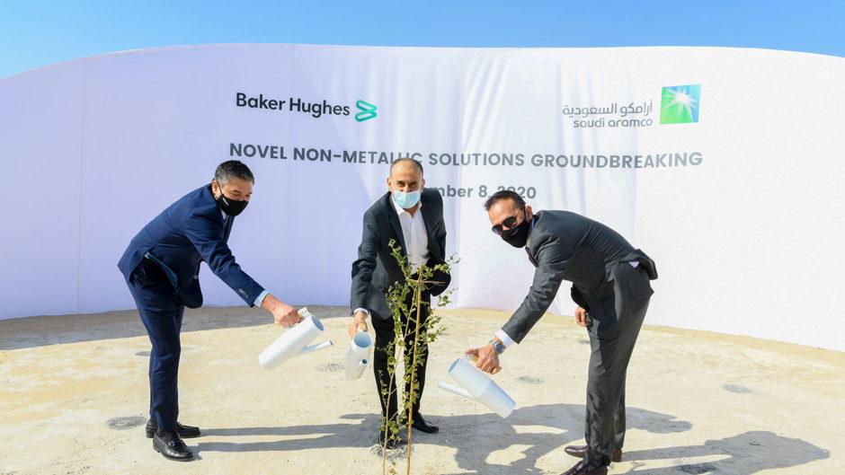 Aramco and Baker Hughes have begun construction on their $110mn Novel non-metallic facility in Saudi Arabia.