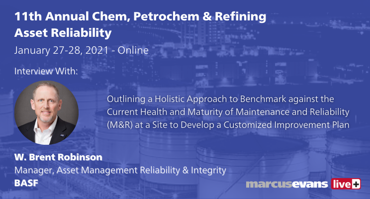 W. Brent Robinson, Manager, Asset Management Reliability & Integrity at BASF