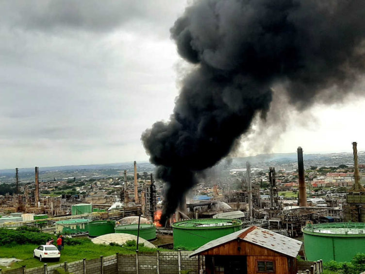 Engen has launched an investigation into a fire at its Durban refinery, while the government is also probing the accident.