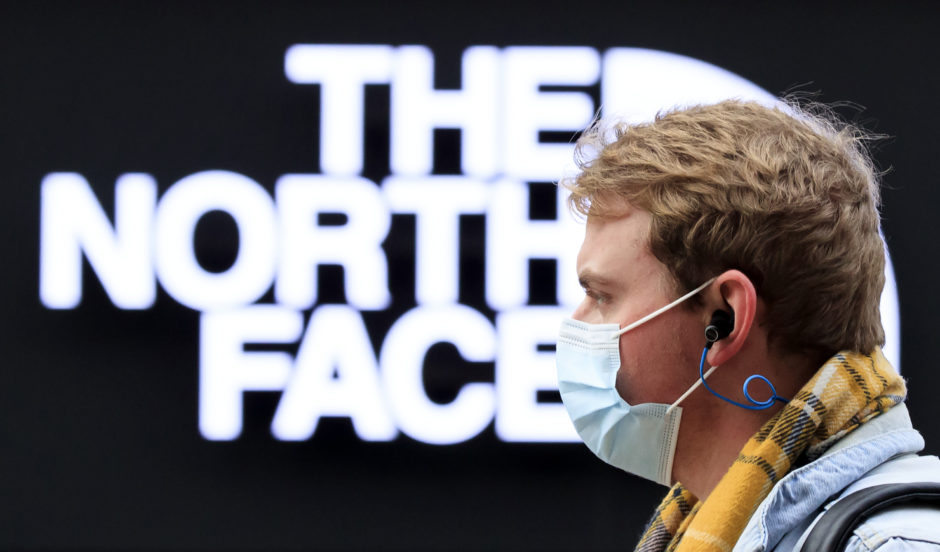 North Face oil