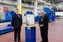 The Lord Provost of Aberdeen, Barney Crockett, right, in his role as lord-lieutenant, with Andrew Polson, chairman of EnerQuip.