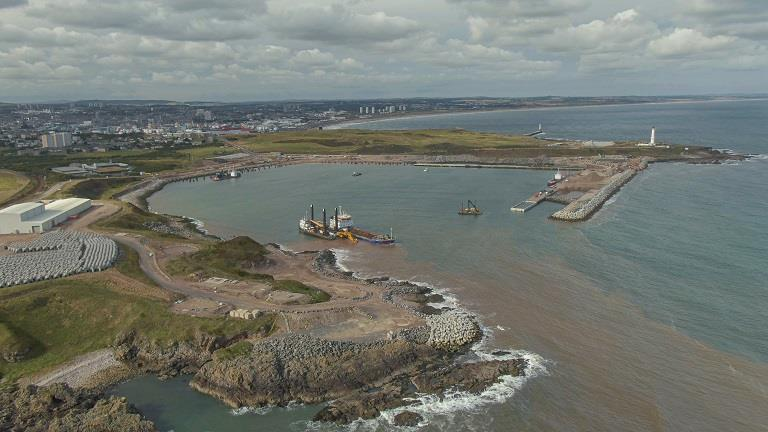 The new south harbour in Aberdeen.