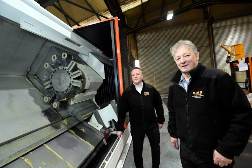 KMS sales manager Grant Adams (left) and director Graham Truscott