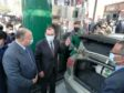 Egyptian Minister of Petroleum and Mineral Resources Tarek El Molla opens a gas station in January 2021