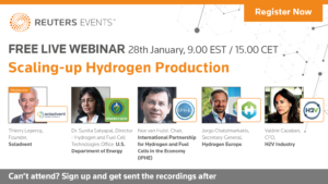 Reuters Events: Scaling-up hydrogen production webinar
