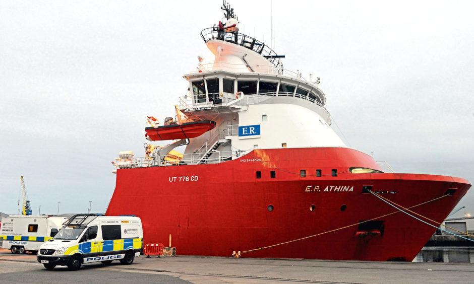 aberdeen vessel offshore death