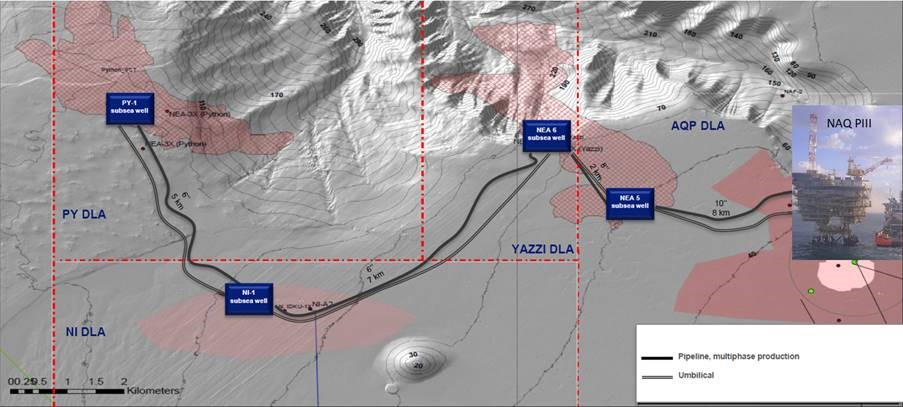 Energean has reached FID on its NEA/NI gas project, offshore Egypt, with TechnipFMC to carry out the EPIC work.