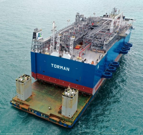 The FRU for the Tema LNG project has arrived in Ghana, setting the stage for the first LNG deliveries to a sub-Saharan terminal.