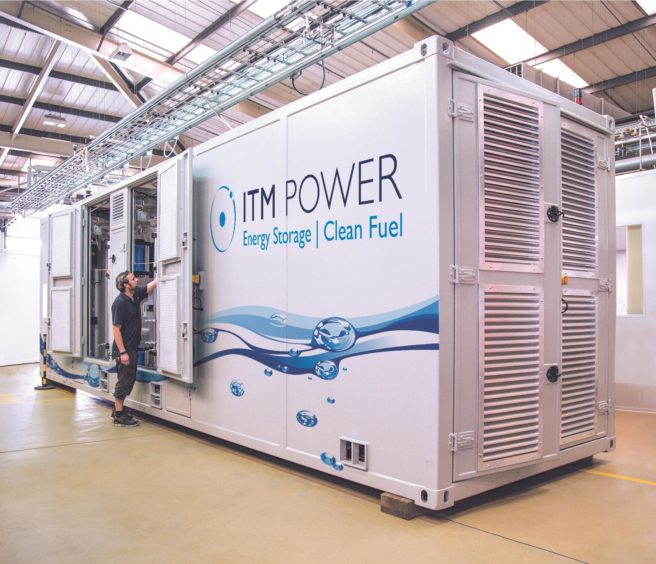 ITM Power energy storage electrolyser
