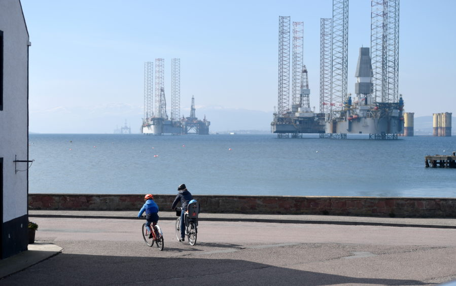 """The Cromarty Firth has become known in more recent times as a """"graveyard"""" for oil rigs"""