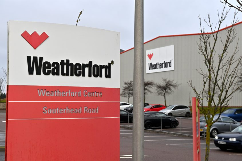 Weatherford's base on Souterhead Road, Altens.