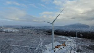 SSE Renewables battles freezing temperatures to install first turbine at Gordonbush Extension