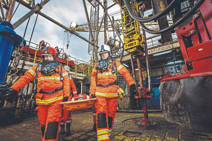 Drager specialises in safety on offshore platforms.