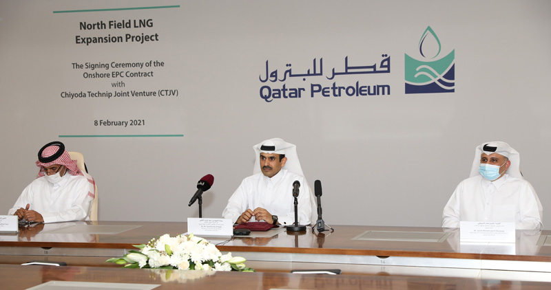 Qatar's QP has awarded work to Chiyoda and Technip for work on the world's largest LNG plant, North Field East (NFE).