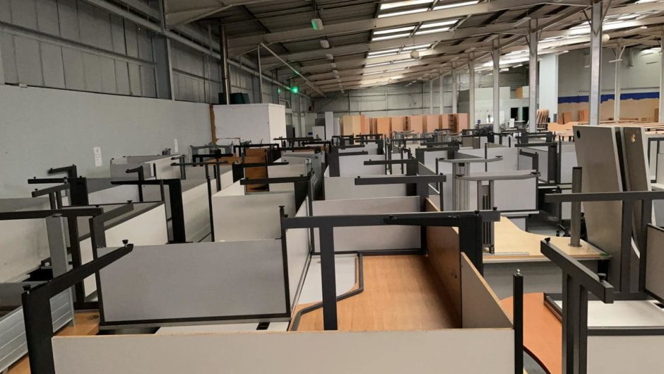 Somebody Cares Aberdeen has two full warehouses of unused office furniture