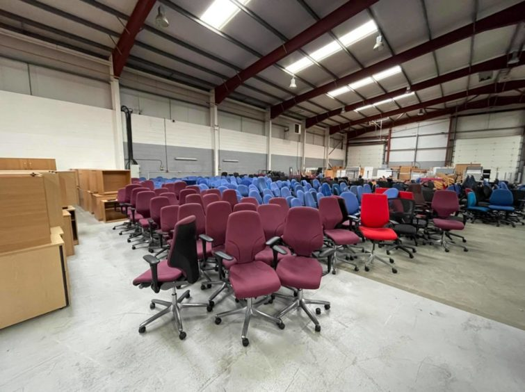 Somebody Cares Aberdeen has two full warehouses of unused office furniture.