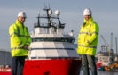 L-R Marc McGruther, Project Delivery Manager, FMS and Carl Lafferty, Survey & Positioning Manager, FMS