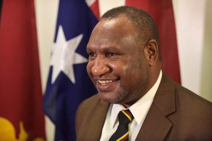 James Marape, prime minister of Papua New Guinea, attends a briefing at Parliament House in Canberra, Australia, on Monday, July 22, 2019. Photographer: Mark Graham/Bloomberg