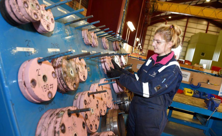 A file photo of a Score apprentice at work in Peterhead