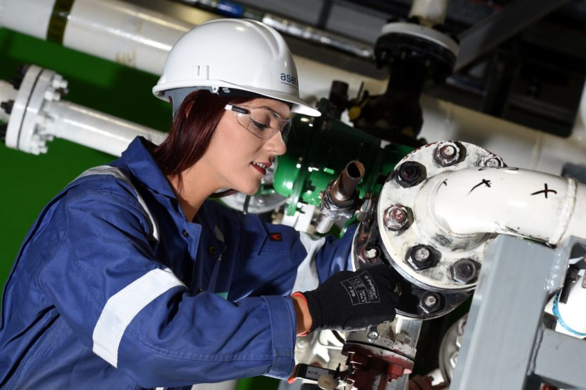 PRECISION: A process technician working at the Aset in Altens.