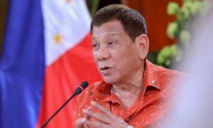 Philippine President Rodrigo Duterte: Photo by Robinson Ninal Jr/AP/Shutterstock