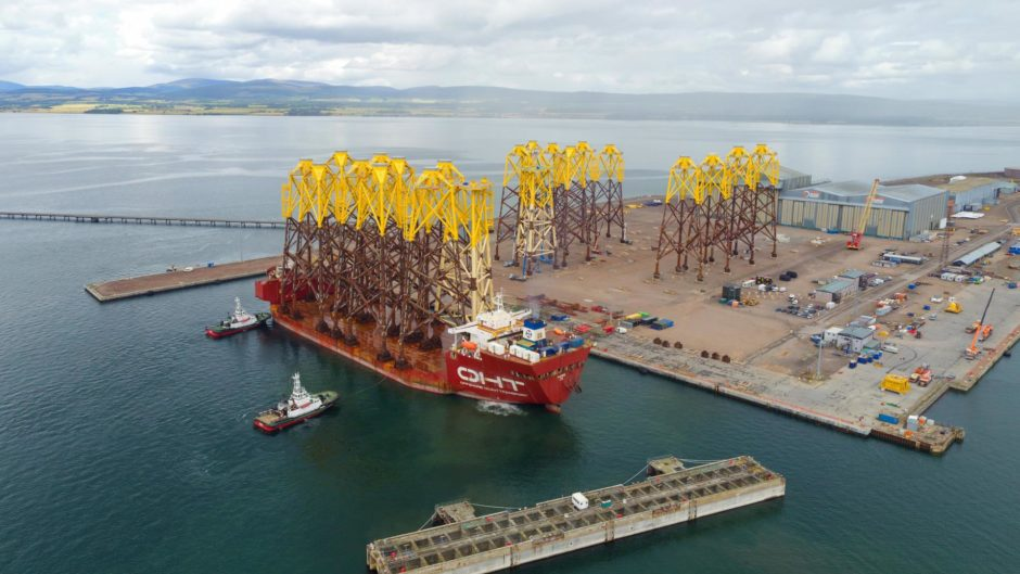 SSE Renewables and Total have selected Global Energy Group's Port of Nigg near Inverness as the marshalling, storage and logistics base for 114 wind turbine foundation structures destined for the Seagreen Offshore Windfarm.