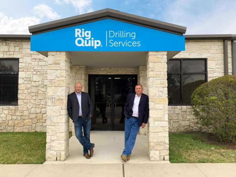 l-r Chuck Tuley, who has joined RigQuip's Houston arm as operations director, with Joe Klimple, manufacturing and service director.