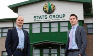 Stats COO Steven Byers (left) and director of operations Gary McDowall.