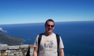 Stewart at the top of Table Mountain