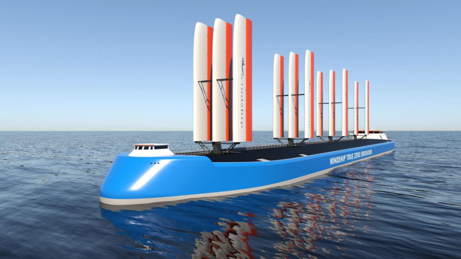Windship Technology's high performance, highly efficient triple-wing rig.