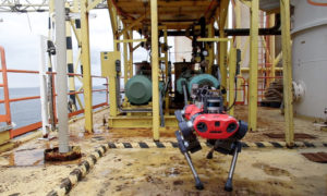 The ANYmal C four-legged dog-like robot offshore