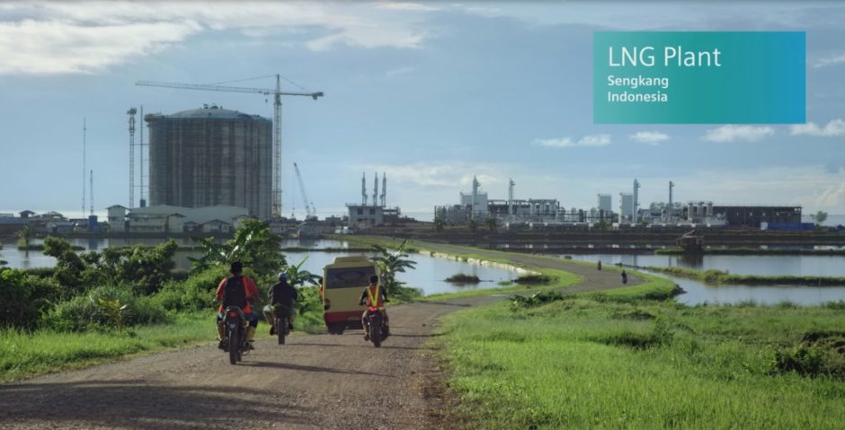 EWC Sengkang LNG plant being built in South Sulawesi, Indonesia.