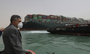 The Ever Given container ship continues to block the Suez Canal, proving to be bullish for both oil prices and memes.
