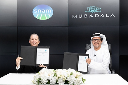 Snam and UAE's Mubadala Investments have signed an MoU to work on hydrogen together, beginning with some studies.