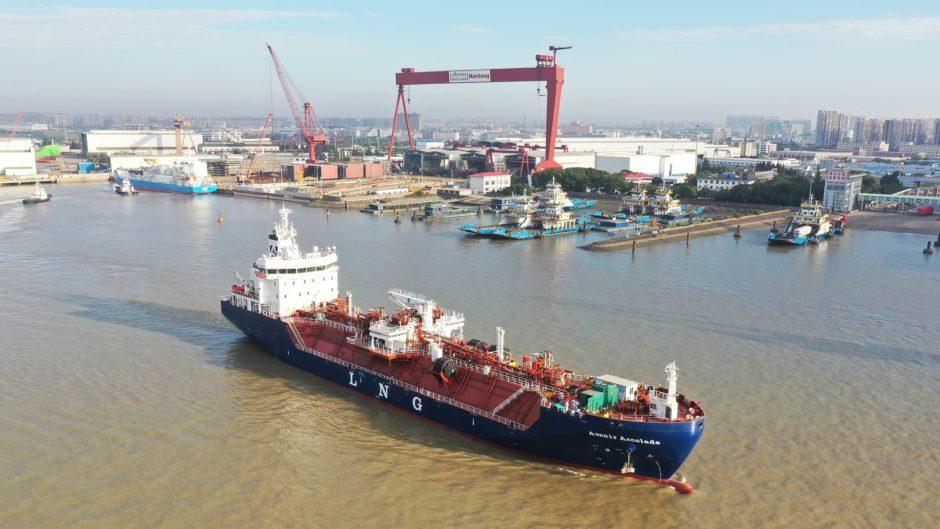 Avenir Accolade, dual-fuel LNG carrier built by Keppel O&M