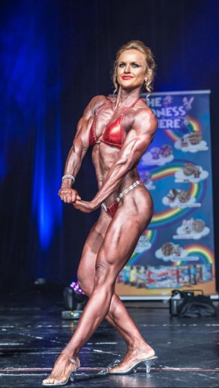 """Lucy won the """"Miss Athletic"""" category in the 2018 British Natural Bodybuilding Federation competition"""