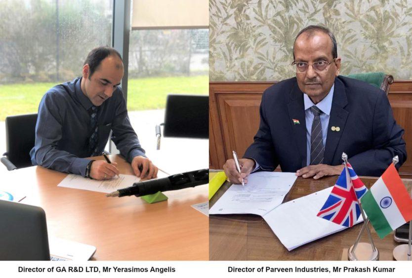 GA R&D managing director Yerasimos Angelis and Parveen director Prakash Kumar.